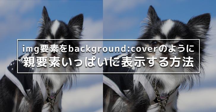img要素をbackground:coverのように親要素いっぱいに表示する方法【containのようにもできる!】