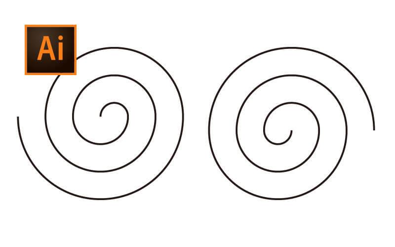 間隔が均等な渦巻き模様の作り方【Illustrator(イラストレーター)】